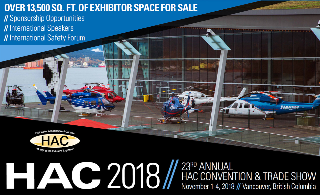 Trade Show Booth Vancouver : The helicopter association of canada